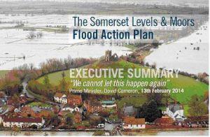 Strona tytułowa planu powodziowego dla równiny Somerset (Environmental Agency)
